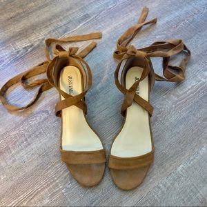 Gladiator sandal with heel